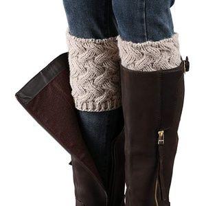 Women Short Crochet Boot Cuffs Winter Leg Warmers